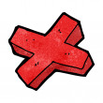 Cartoon negative cross symbol — Stock Vector #39438109