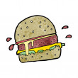 Stock Vector: Cartoon burger