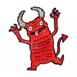 Stock Vector: Cartoon demon