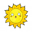 Cartoon sun — Stock Vector