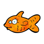Cartoon happy goldfish — Stock Vector