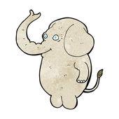 Elefante divertidos dibujos animados — Vector de stock