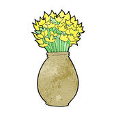 Cartoon vase of flowers — Stok Vektör