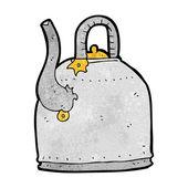 Old iron kettle cartoon — Stock Vector