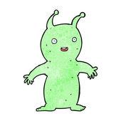 Cartoon happy little alien — Stock Vector