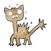 Cartoon scared cat — Stockvektor