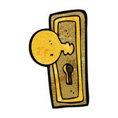 漫画のドアのノブ — Stockvektor