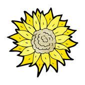 Cartoon sunflower — Stock Vector