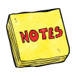 Vettoriale Stock : Cartoon notes pad
