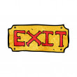 Cartoon exit sign — Stock Vector #39444941