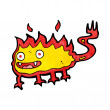 Cartoon little fire demon — Vettoriale Stock #39449341