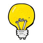 Lâmpada de iluminação dos desenhos animados — Vetor de Stock