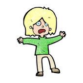 Cartoon unhappy person — Stock Vector