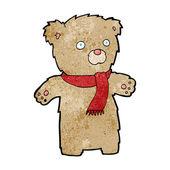 Cartoon teddy bear — ストックベクタ
