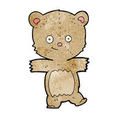 Cartoon funny teddy bear — Vector de stock