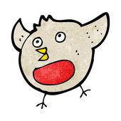 Funny cartoon christmas robin — 图库矢量图片