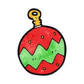 Cartoon christmas bauble — Stock Vector