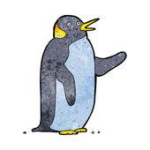 Cartoon penguin waving — Stock Vector