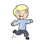 Cartoon excited boy — Vector de stock