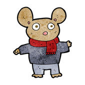 Cartoon mouse in clothes — Stock Vector