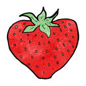 Cartoon strawberry — Stockvektor
