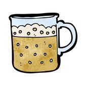 Taza de dibujos animados de la cerveza — Vector de stock