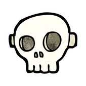 Cartoon spooky skull mask — Vector de stock