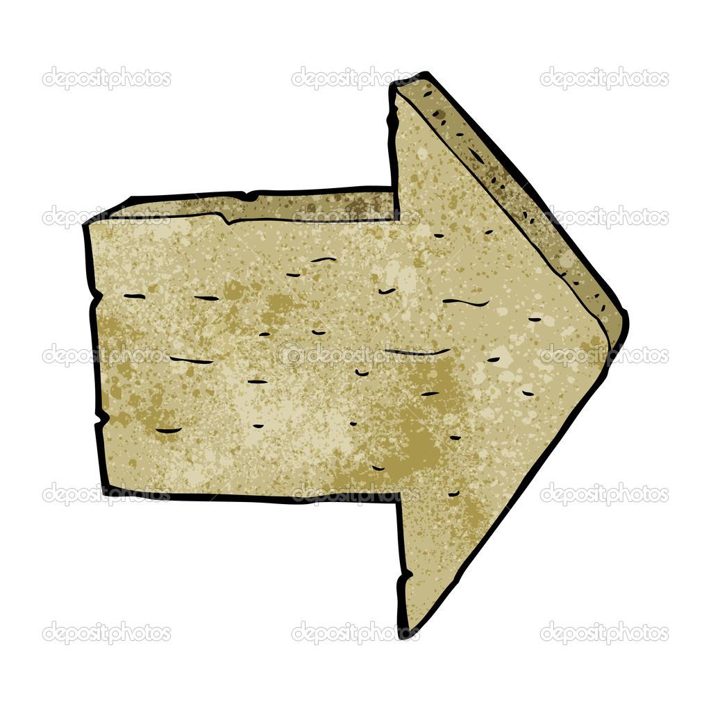 dessin anim signe de fl che en bois image vectorielle lineartestpilot 39441537. Black Bedroom Furniture Sets. Home Design Ideas