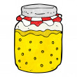 Cartoon honey jar — Stock Vector #39456103