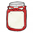 Stock Vector: Cartoon jar of preserve