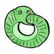 ストックベクタ: Cartoon snake eating own tail
