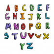 Stock Vector: Cartoon alphabet