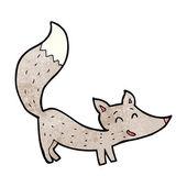 卡通小灰狼 — 图库矢量图片