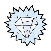 Diamante de dibujos animados — Vector de stock