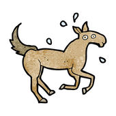 Cartoon horse sweating — Vecteur