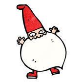 Cartoon tiny santa — Vector de stock