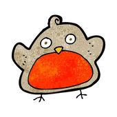 Cartoon Weihnachten robin — Stockvektor