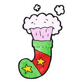 Cartoon magic christmas stocking — Stock Vector