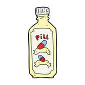 Cartoon old bottle of pills — Stok Vektör