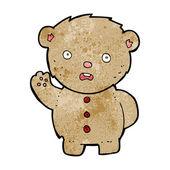 Cartoon unhappy teddy bear — Vector de stock