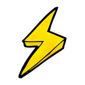 Cartoon lightning bolt symbol — Stock Vector