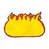 Confine di fuoco dei cartoni animati — Vettoriale Stock