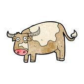 Vaca dos desenhos animados — Vetor de Stock