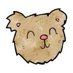 Cartoon happy teddy bear face — Stock Vector #39464763