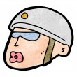 Cartoon policeman head — Stok Vektör