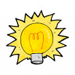 Stock Vector: Cartoon electric light bulb