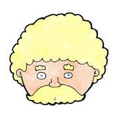 Kreskówka mężczyzna z wąsem — Wektor stockowy