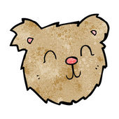 Cartoon happy teddy bear face — Wektor stockowy