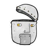 Cartoon robot head — Stock Vector