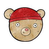 Cabeza de oso de peluche de dibujos animados — Vector de stock